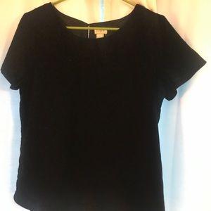 JCrew Velvet Short Sleeved Shirt
